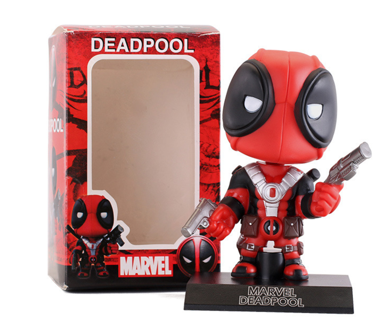 Exclusive Pop Marvel Comics Deadpool Bobble Head Action Figure Collectible Toy 10cm neca epic marvel deadpool ultimate collectible 1 4 scale action figure model toy 16 45cm ems free shipping