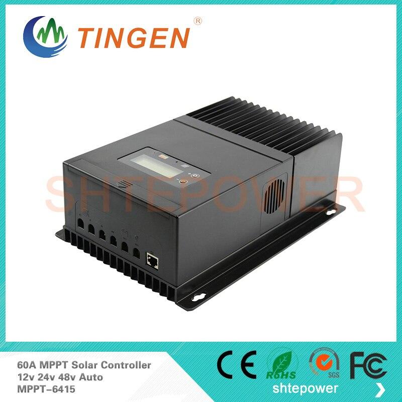 MPPT-6415 60A solaire portable régulateur Max PV entrée 150 V haute qualité LCD écran d'affichage 12 V 24 V 48 V auto commutateur
