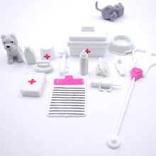 New 14pcs/Set Fashion Child medical kit Small Pill Medicine Box Case for Pets Kids Toys Barbies Doll Accessories furniture