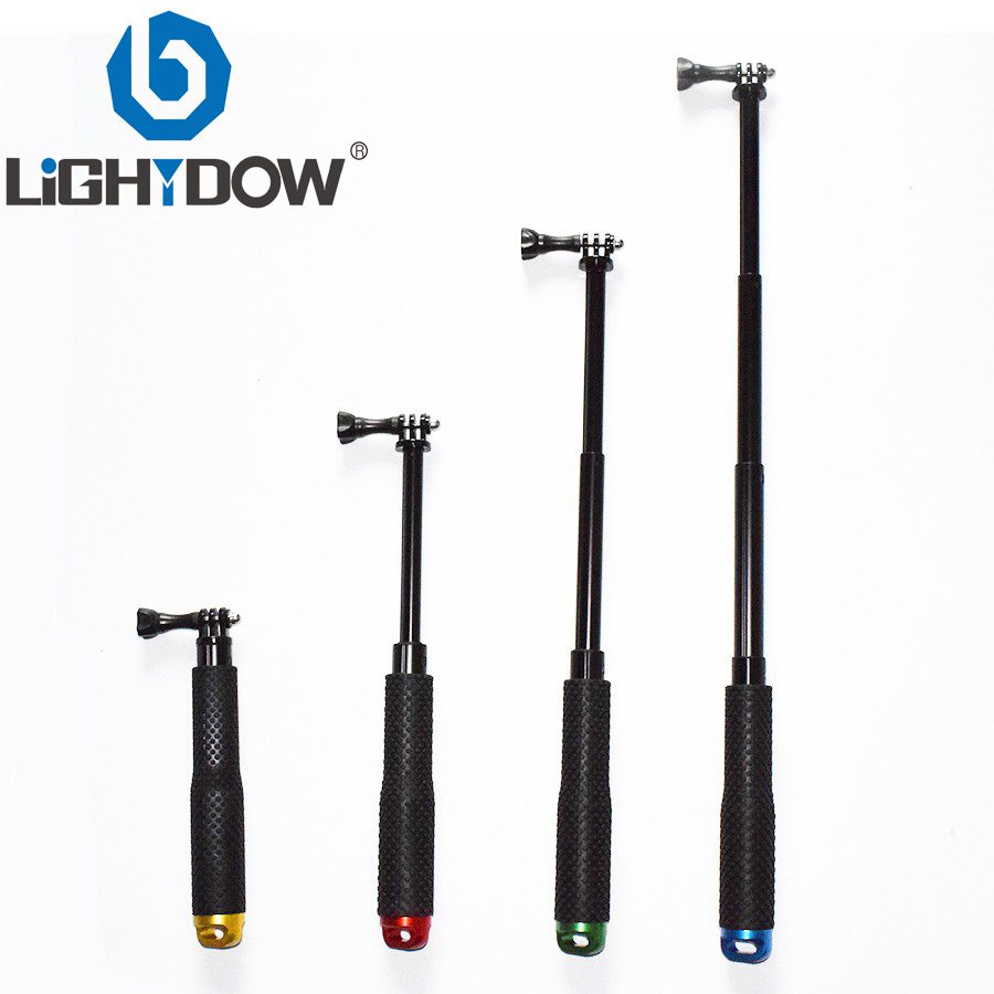 Lightdow 19 Inch Extendable Pole Selfie Stick Handheld Monopod with Mount Adapter for GoPro 2 3 3+ 4 5 SJCAM XiaoYi Cameras image