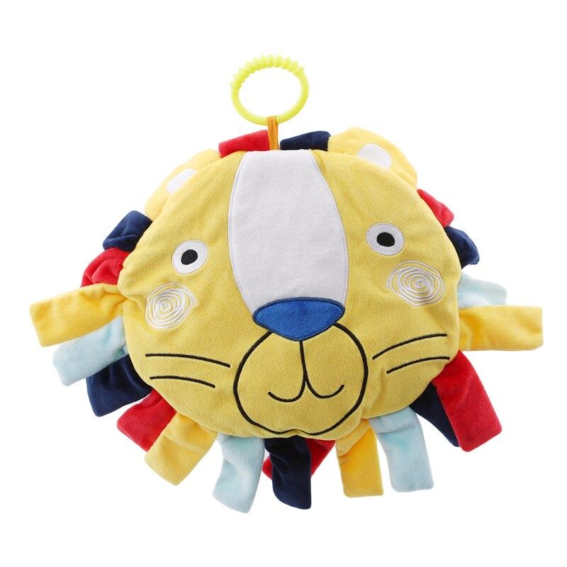 Baby Ronde Kussen Fun Ring Bell Cartoon Leeuw Pluche Speelgoed Begeleidende Slapen Comfort Bed Speelgoed