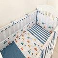 4 unids/set bebé Niños cuna juego de cama Cuna Parachoques ropa de cama de bebé 100% algodón cuna parachoques protector de cama para niño chica