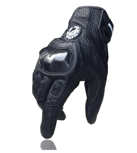 Heiße Verkäufe neue kühle 390 Motorradhandschuhe / Rennhandschuhe / Kohlefaserhandschuhe Echtlederhandschuhe Atmungsaktiver Schutz