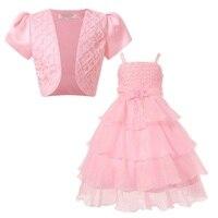2Pcs Girls Princess Dresses New Arrivals Children Christmas Party Vestido Baby Girls Summer Princess Clothes Dresses