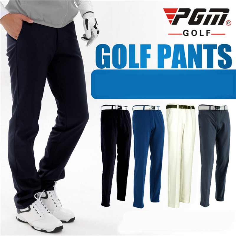 PGM Outdoor Sport Golf Pants Men Winter Long Trousers Dry Quick Slim Fitness Sports Pants Spring Golf Garment Solid Color Pants цена