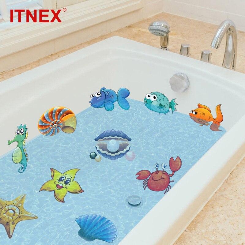ITNEX 10/20Pcs Bad Aufkleber nemo Fisch Meer Cartoon Wand Aufkleber Für Dusche Kinder Kinder Baby bad Badewanne fliesen Badezimmer Aufkleber