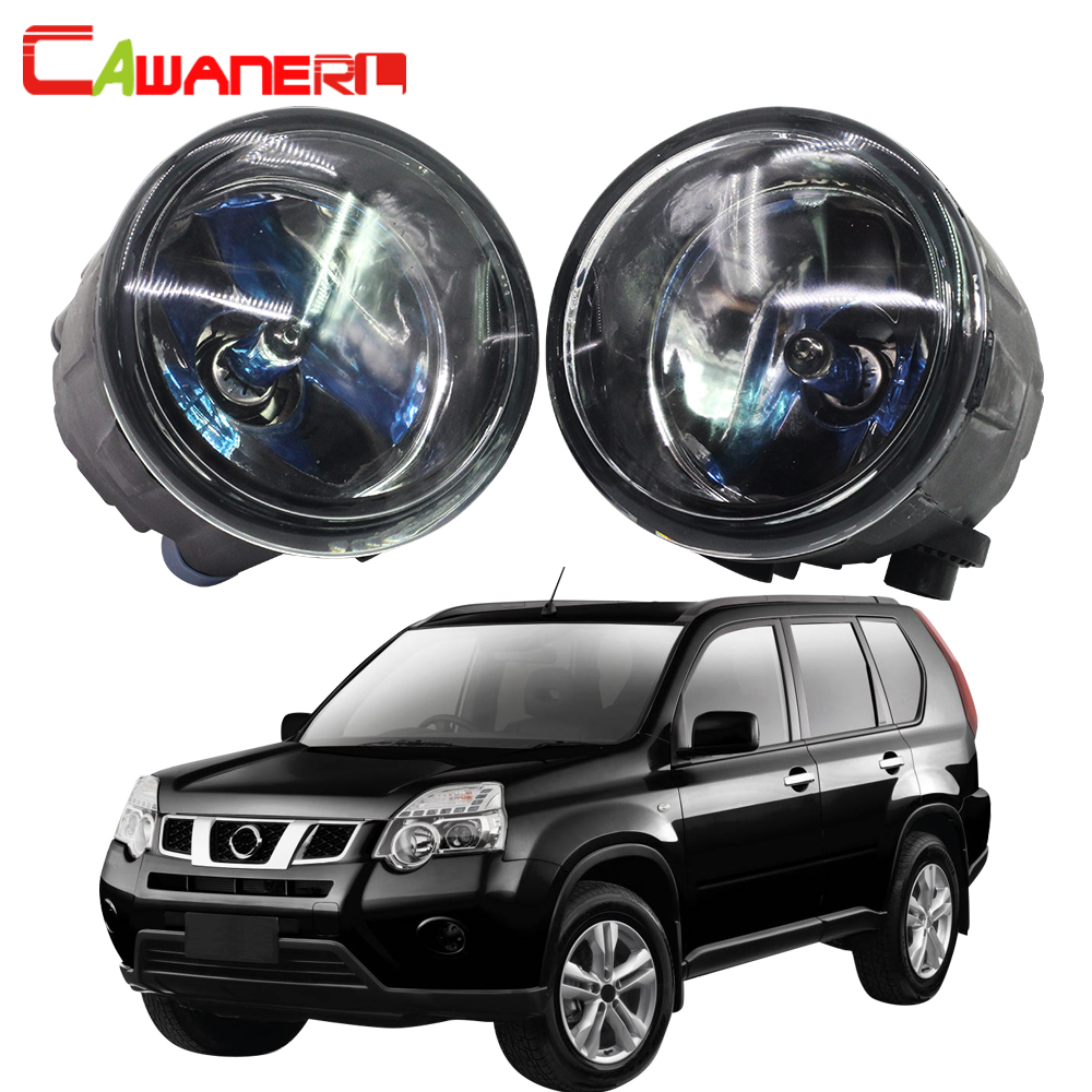 Cawanerl 100W Car Halogen Bulb Fog Light DRL Daytime Running Lamp 12V For Nissan X-Trail T31 Closed Off-Road Vehicle 2007-2013