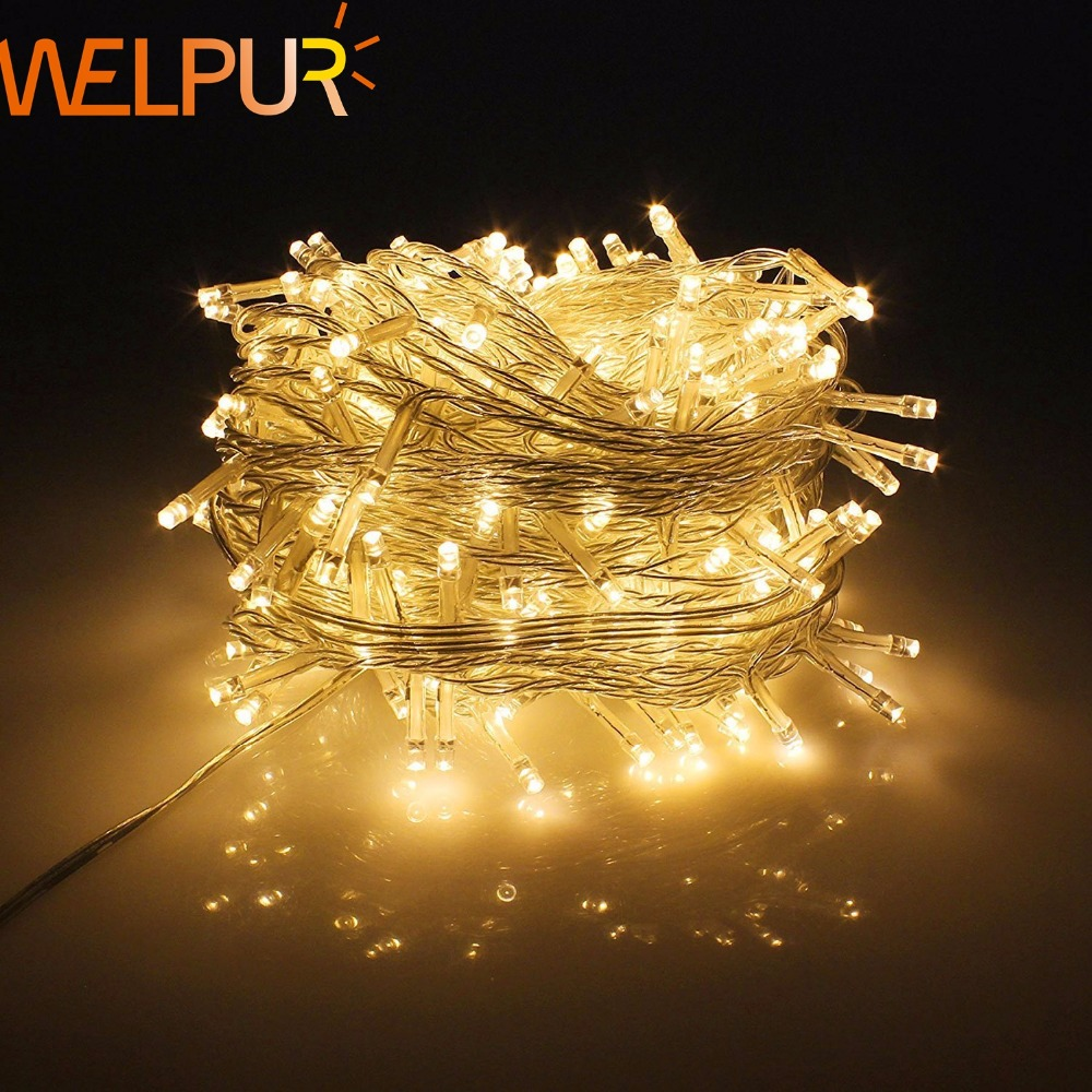 Holiday String Lights Waterproof 110V/220V 10M 20M 50M For Christmas Festival Party Fairy Colorful Xmas Decor Light