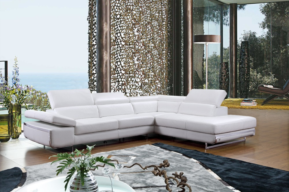 Modern Corner Leather Sofa L Shape Sofa Set Designs For