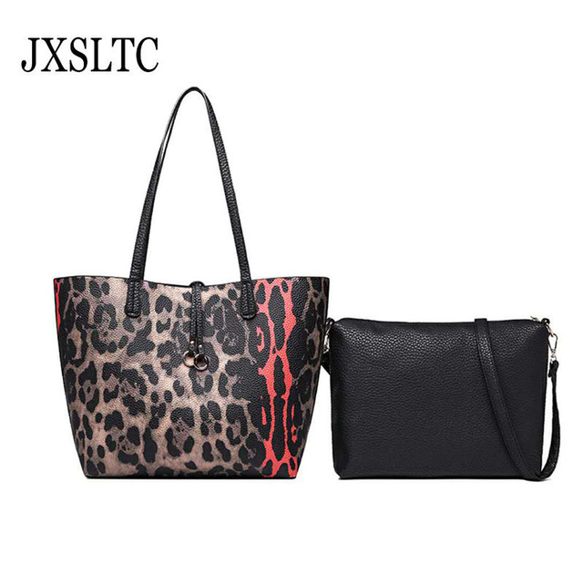 Female Large Capacity Composite Bag High-capacity Handbag European    American Fashion Leopard Handbags Shoulder Bag for Women 65b264d40f89b