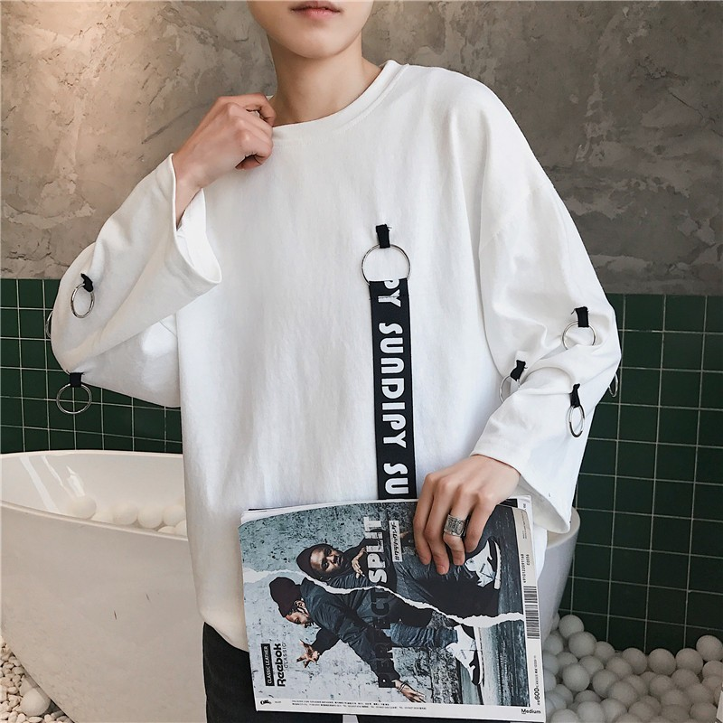 t shirt 2018 New Summer Hong Personality Part Sleeve Male Student Tide Short City Boy Trend Exquisite harajuku Free shipping