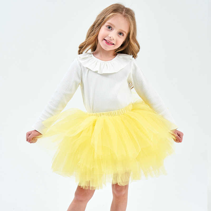 Moda niñas tutú Super mullido 6 capas enagua princesa Ballet danza tutú falda niños torta falda Chritsmas ropa de niños