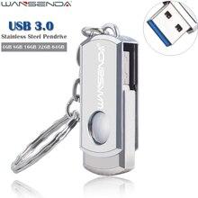 WANSENDA Нержавеющей Стали USB Flash Drive Pen Drive 4 ГБ 8 ГБ 16 ГБ 32 ГБ 64 ГБ Высокая Скорость USB 3.0 Pendrive Memory Stick