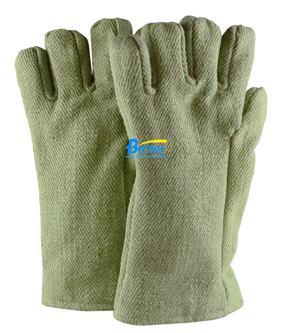 650 degree Celsius high temperature insulation anti heat gloves heat resistant oven work glove 932f high temp heat resistant welding gloves bbq oven firebreak aramid fiber work glove