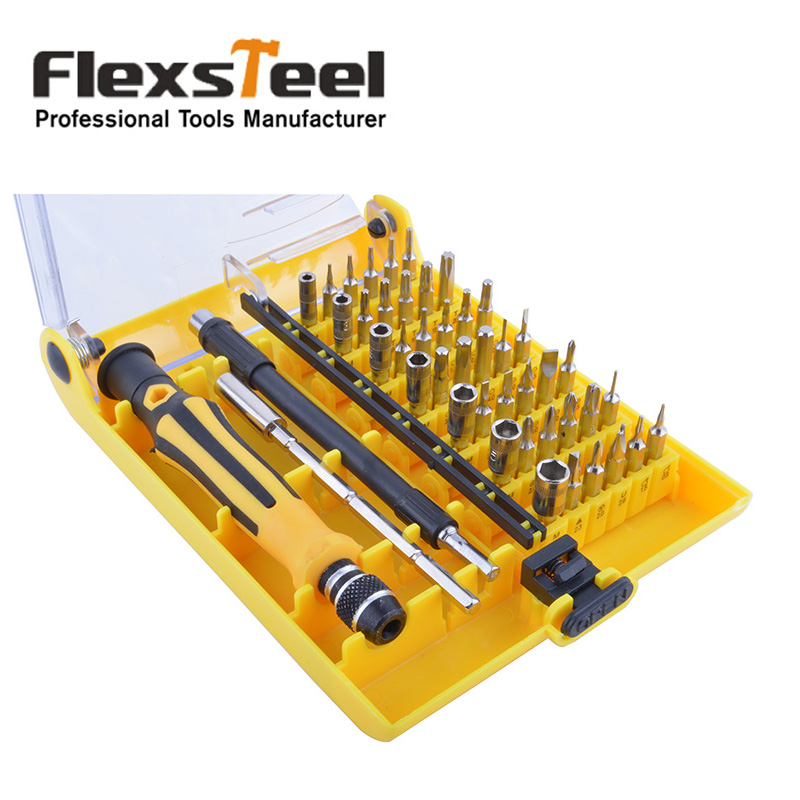 buy rechargeable torx precision screwdriver set 45 in 1 multi bit for iphone. Black Bedroom Furniture Sets. Home Design Ideas
