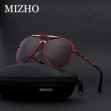 MIZHO Brand Anti-Reflective HD Visual Protection Women Sunglasses For Men Polarized Aviation 25g light Luxury gafas de sol PILOT