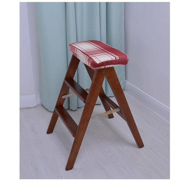 US $188.88 |Sgabello da cucina Scala materiale seduta in legno mobili per  la casa di vendita al dettaglio del commercio all\'ingrosso pieghevole ...