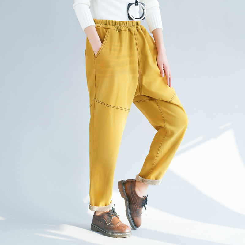 High Woman 2019 For Jean Femme Waist Denim Spring Korean Casual Plus Women Size Cotton Pants 2 Harem Jeans Elastic Autumn 1 qxP86B