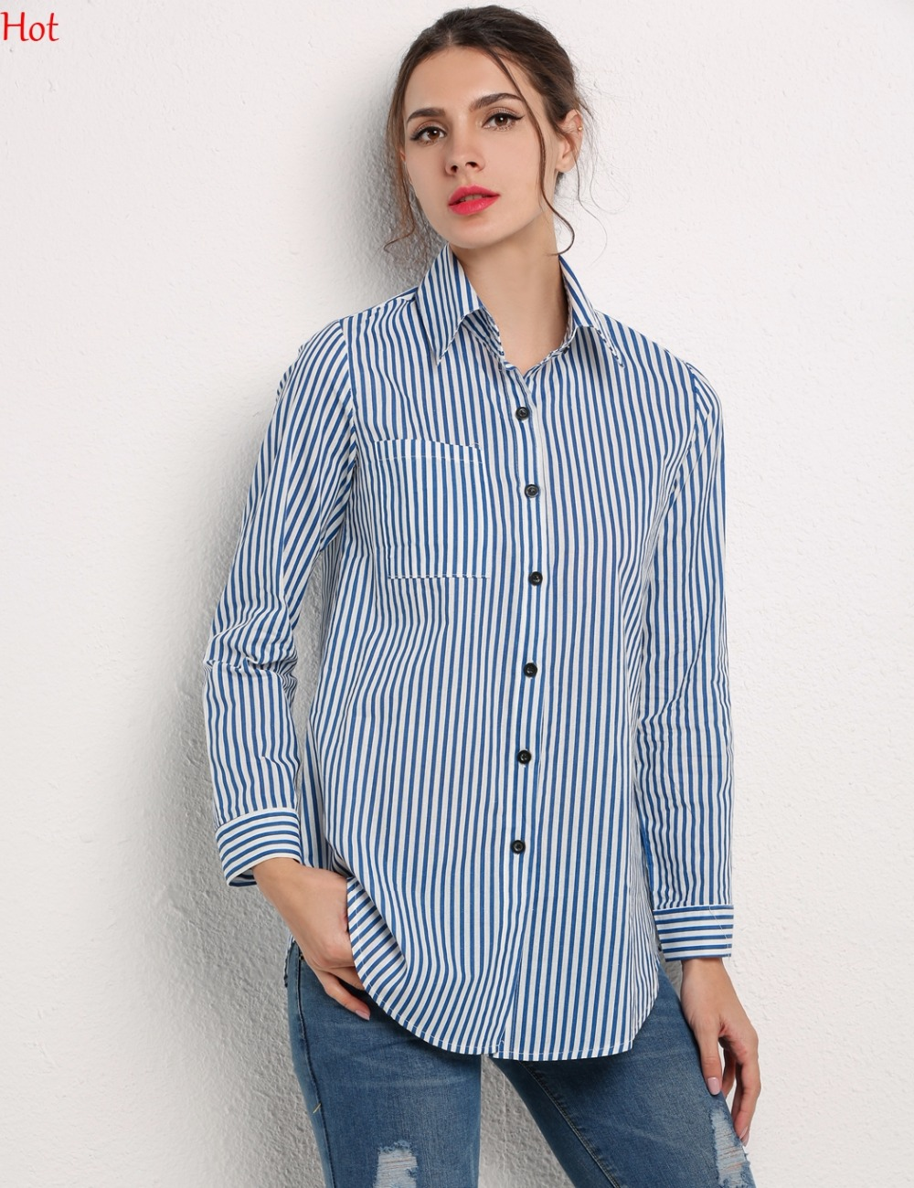 Online Buy Wholesale blue ladies shirt from China blue ladies ...