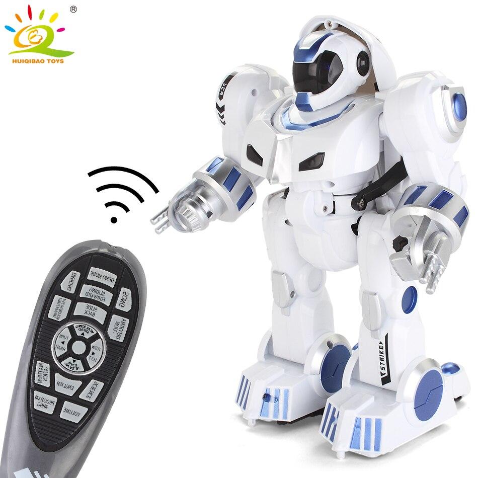 HUIQIBAO JOUETS télécommande Déformation de Marche de danse Robot électrique figurines intelligente humanoïde jouets pour enfants cadeau