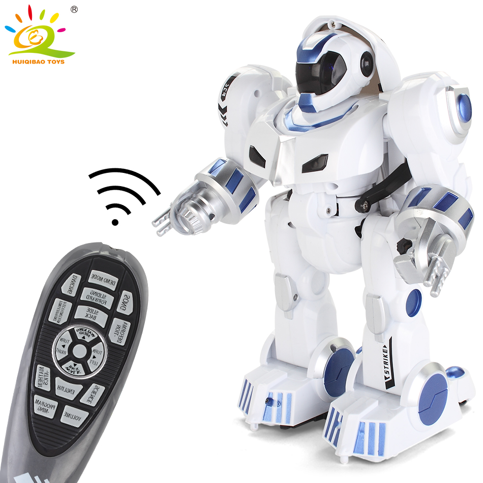 HUIQIBAO TOYS remote control Deformation Walking dance Robot electric action figures intelligent humanoid toys for children gift