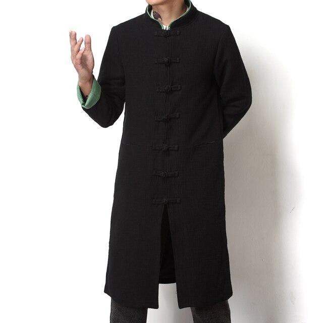 Roupa de qualidade superior homens trench coat plus size M-5XL estilo china gola longa outwear moda masculina slim fit trench jacket F800