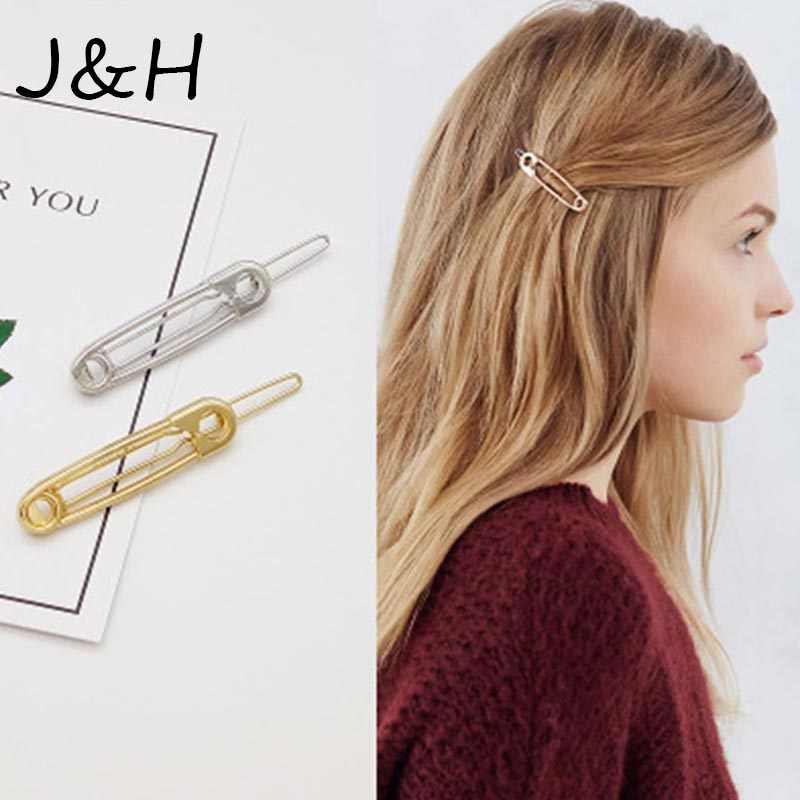 Simple Metal Pin Hair Clip Girls Vintage Gold Hairpin Princess Women Charm Hair Accessories Joyme Wedding Gift