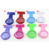 Wholesale 100pcs ABS Nurse Watches Men Women Gift Doctor Hanging Medical Watch Free Shipping High Quality Arabic numerals