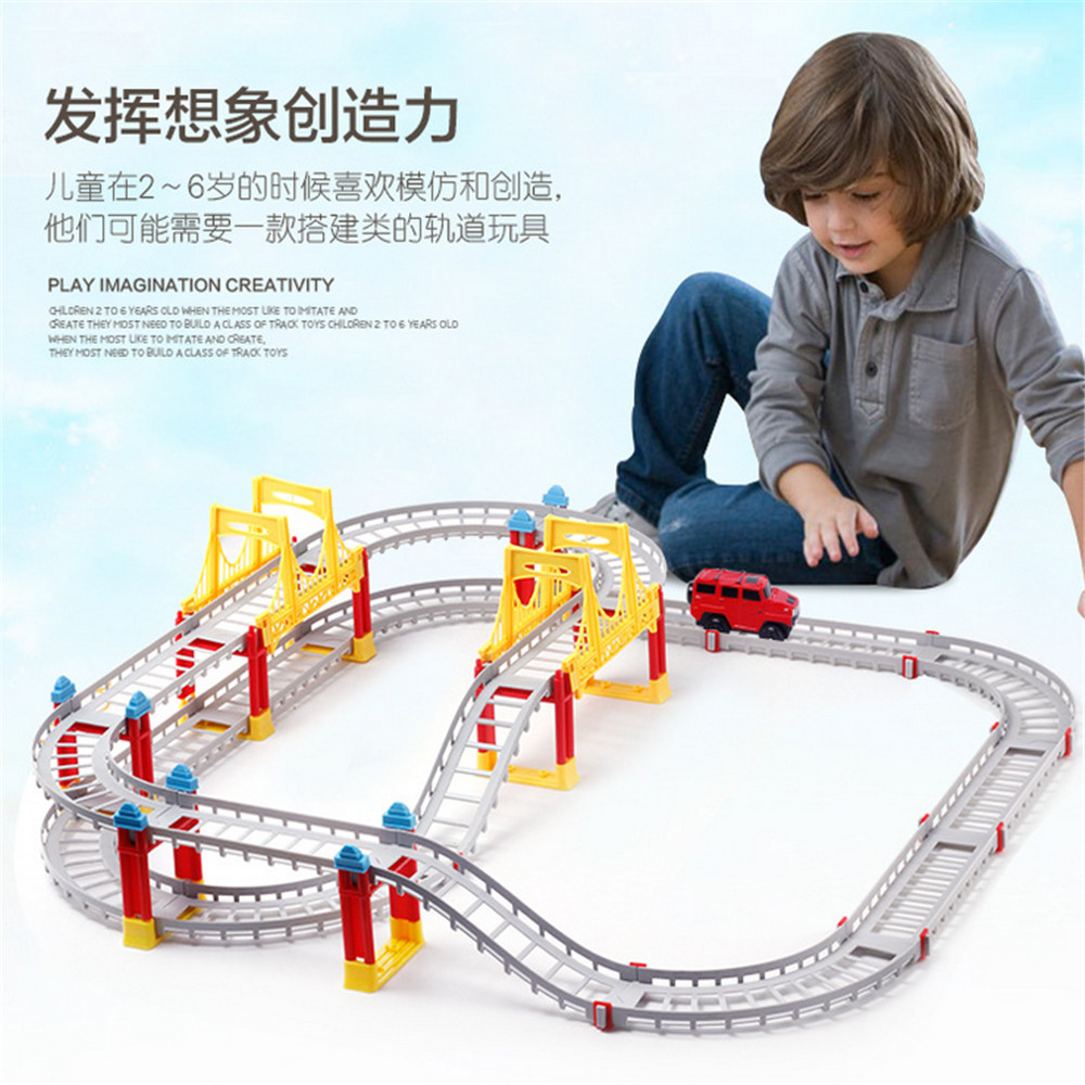 Variety Electric Thomas Rail Car Kids Train Track Model Slot Toy Baby Racing Car Double Orbit Car Birthday Gift Kids Toys#