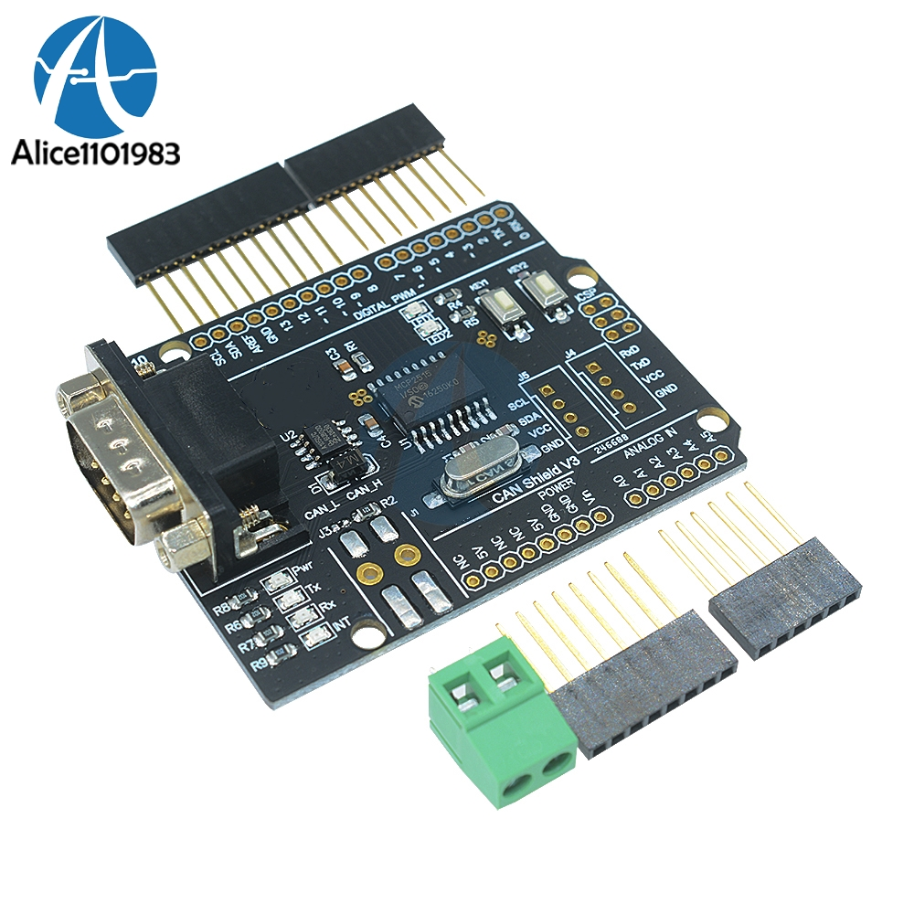 mcp2515 can controller shield control board for arduino. Black Bedroom Furniture Sets. Home Design Ideas