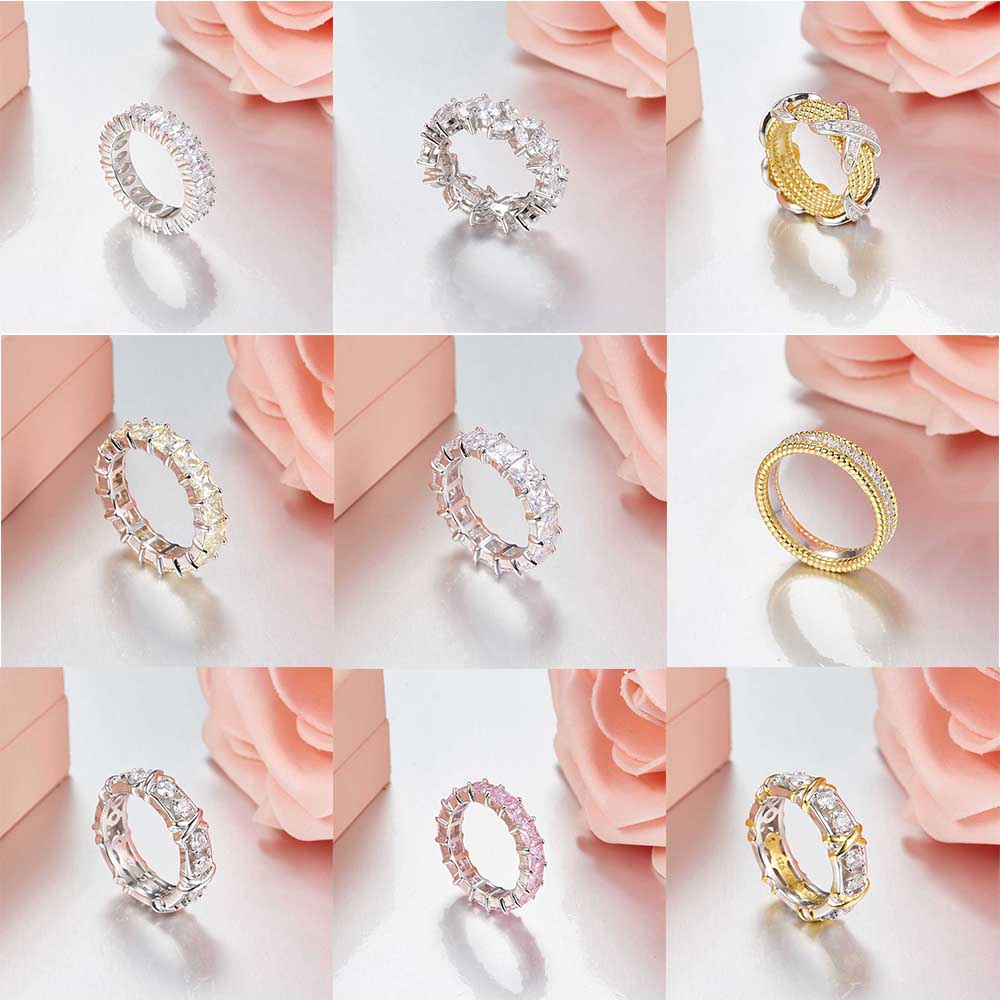 TIFF 100% 925 Sterling Silver Original Gorgeous Shiny Charms Rings Fit DIY Original Jewellery Factory wholesale tiff 100