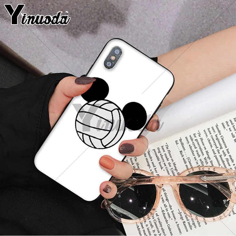 Funda de teléfono de diseño único Popular de voleibol Yinuoda para Apple iPhone 8 7 6S Plus X XS MAX 5 5S SE XR teléfonos celulares