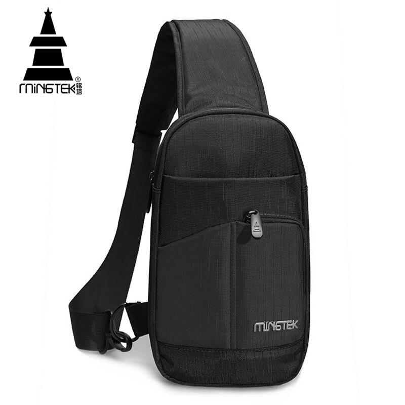 bedb6202f8 Unisex Chest Bag Casual Simple Sling Bag Nylon Bag Waterproof Travel  Crossbody Messenger Bag For Men Lightweight Back Pack