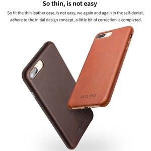 Image 5 - QIALINO biznes prawdziwej skóry tylna pokrywa dla iPhone 8 Plus Ultra cienki, czysty, ręcznie robiony futerał na telefon dla iPhone 8 dla 4.7/5.5 cal