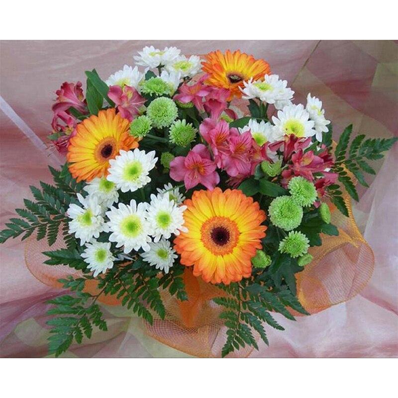 kosočtvercové výšivky květiny v koši, 5d diy kosočtverečné malby květiny