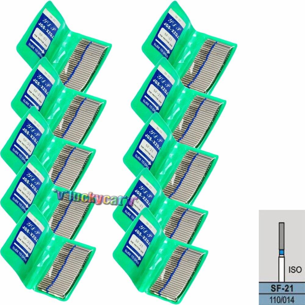 500 piezas/10 bolsas de diamante dentales FG de alta velocidad fresas para el pulido de alisado 1,6 MM SF 21-in Blanqueamiento dental from Belleza y salud    1