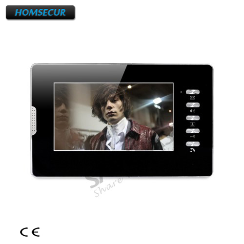 HOMSECUR 7inch Color Indoor Monitor with Mude Mode XM702-B for Video Door Phone Intercom System homsecur 4 3 color indoor monitor xm401 for video door phone intercom system