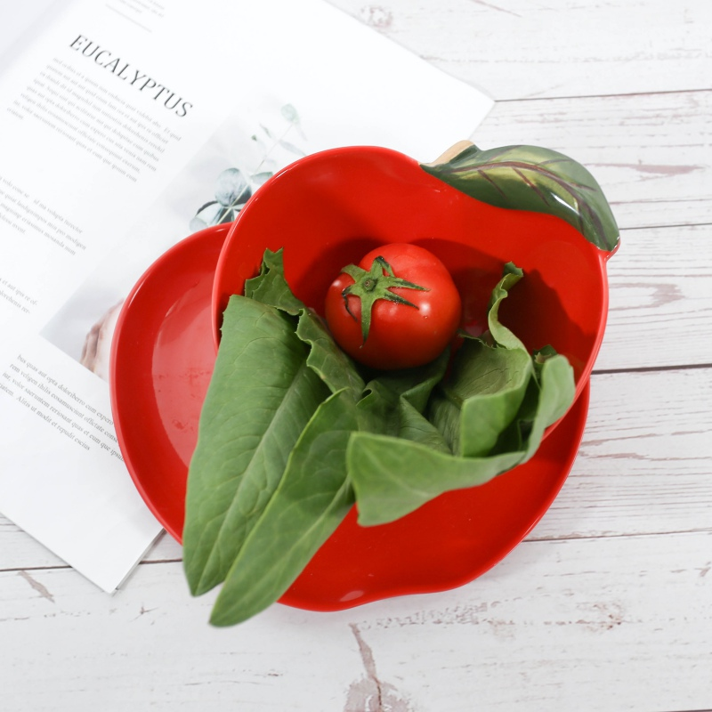 Melamine Salad Bowl Plates Support Degrees For Home Or Outdoor Salad Plates Temperature 20 120 Fruit Dish Tableware in Dishes Plates from Home Garden