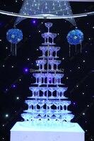 Свадебные винная башня, семь ярусов круглый Arcrylic шампанского башни, праздничных вечеринок