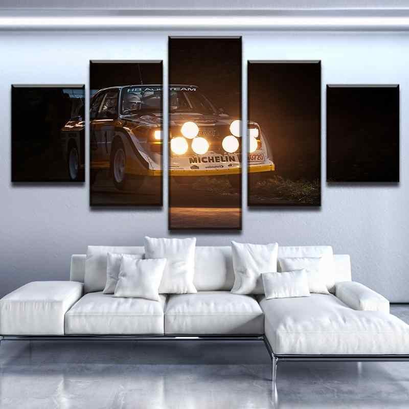 Hd Printed 5 Piece Canvas Art Wall Decor Audi Quattro S1 Night Rally