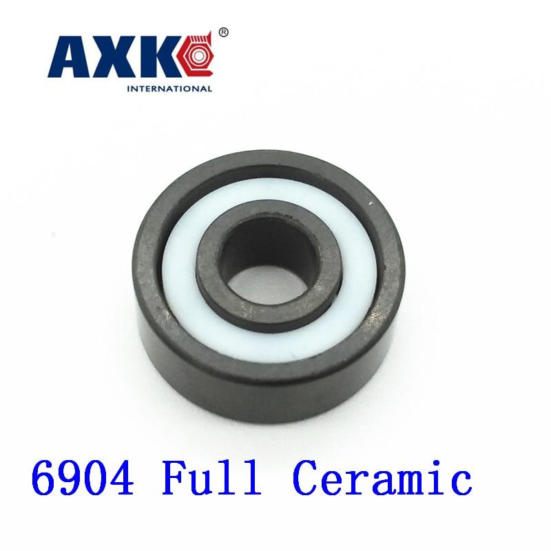 AXK 6904 Full Ceramic Bearing ( 1 PC ) 20*37*9 mm Si3N4 Material 6904 CE All Silicon Nitride Ceramic 61904 Ball Bearings rosenberg 6904