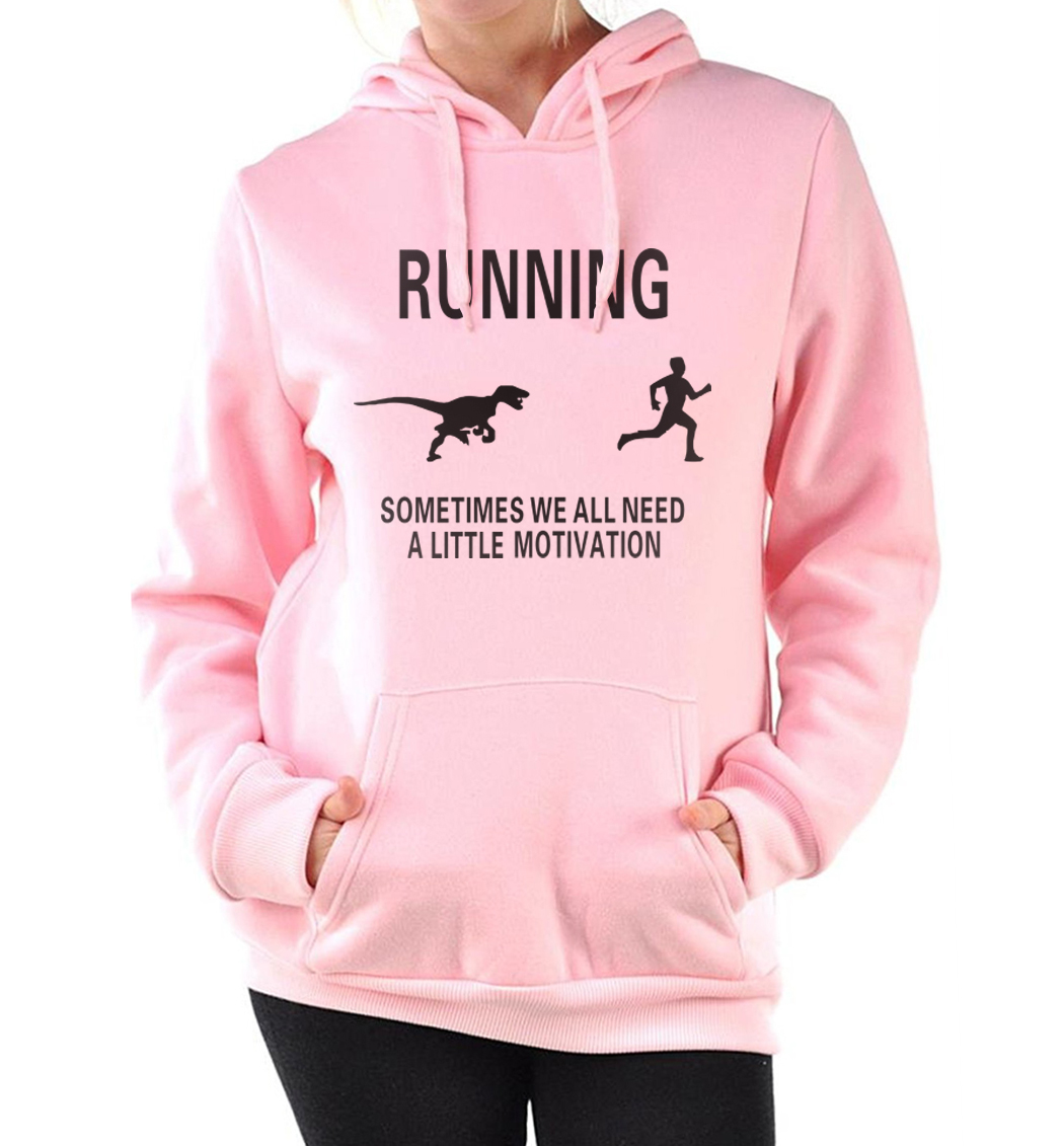 sweatshirts sometimes we all need a little Motivation brand tracksuit fitness 2019 Women  pink hoodies hooded