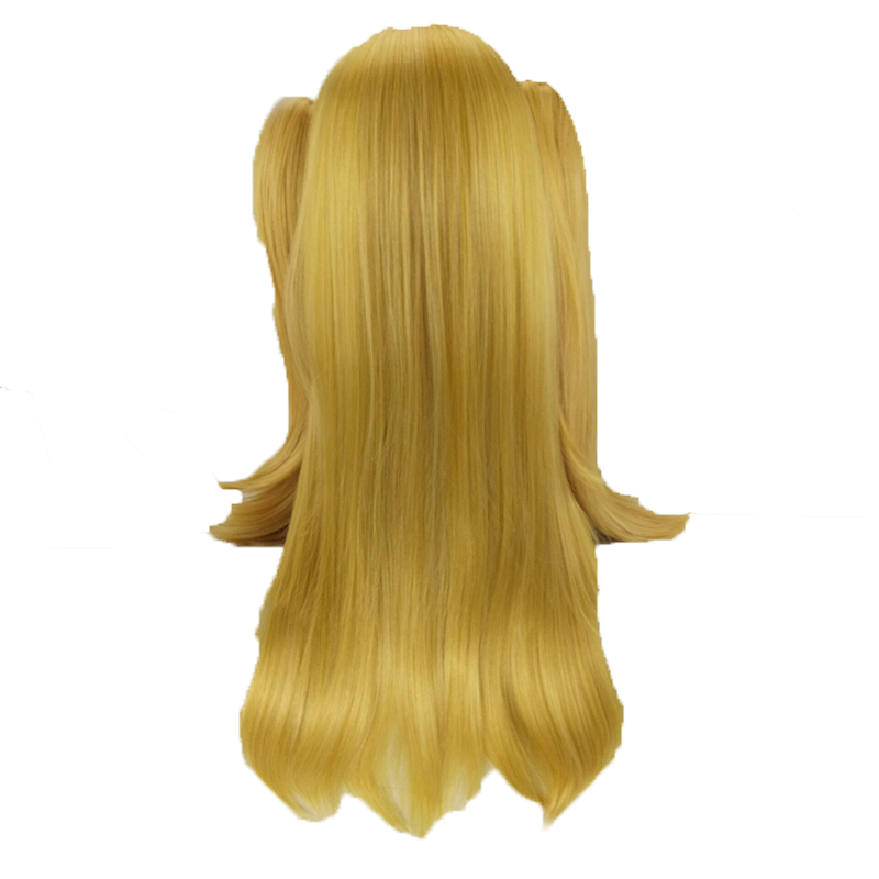 HAIRJOY  Synthetic Hair Woman 70cm Long Straight  Braided Orange Blonde Party  Wigs +2 Clips Ponytail Cosplay Wig 21