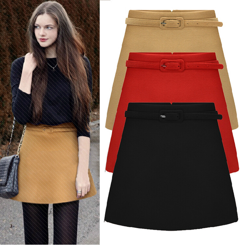 A Line Winter Skirts - Dress Ala