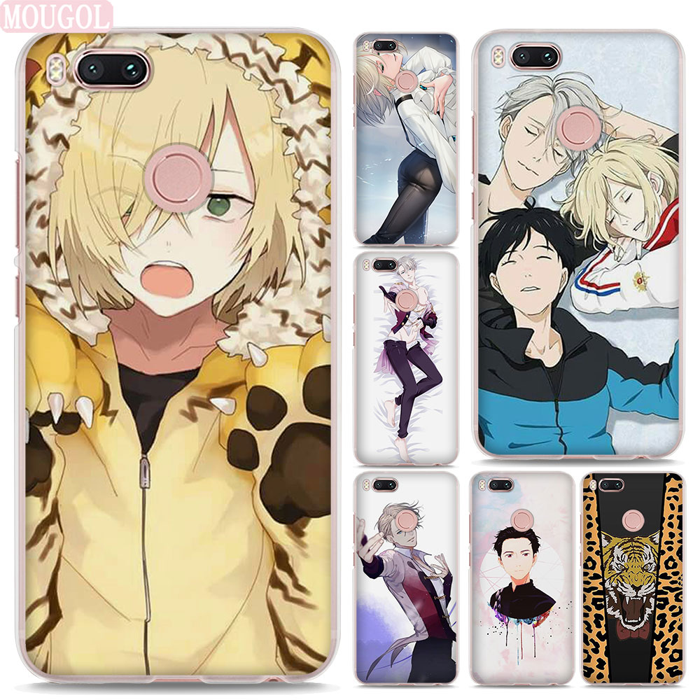 MOUGOL Japanese Anime YURI on ICE design hard clear Phone shell Case for Xiaomi Mi A1 5X 6 5s for Redmi 5A 4X Note4X 5Plus ...