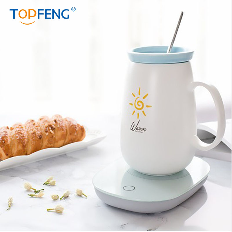 TOPFENG Coffee Heating Pad Mat Keep Drink Warm Heater Mugs Coaster in Water Kettles from Home Garden