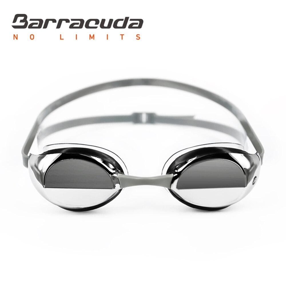 Barracuda Swim Goggle Lentes de Espelho ESPELHO PARAFUSO Divisão TriFushion  Patenteado Sistema de Proteção UV Anti fog para Adultos CINZA  90210 em  Óculos ... f908d4950c