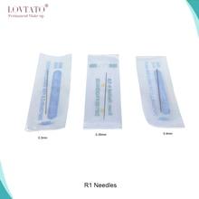 חד פעמי R1 קעקוע מחטי 1R אחת עגול מחטי גבות אייליינר שפתיים איפור קבוע machine0.3mm 0.35mm 0.4mm מחט
