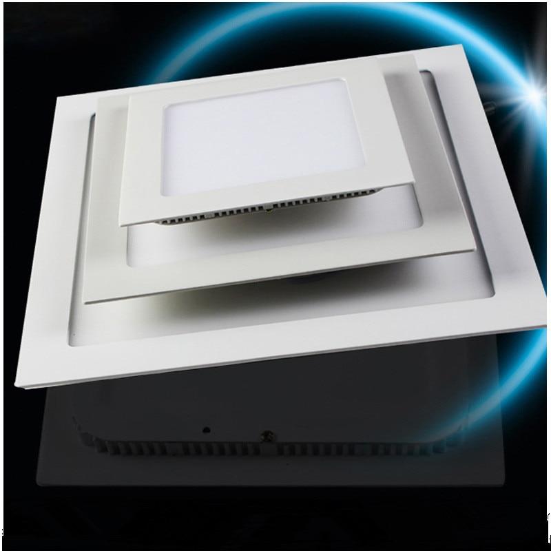 20 шт. ультра тонкий затемнения квадратный Светодиодные осветительные панели 24 Вт 12 дюймов 300 мм 6 Вт 9 Вт 12 Вт 15 вт 18 Вт утопила свет AC85-265V
