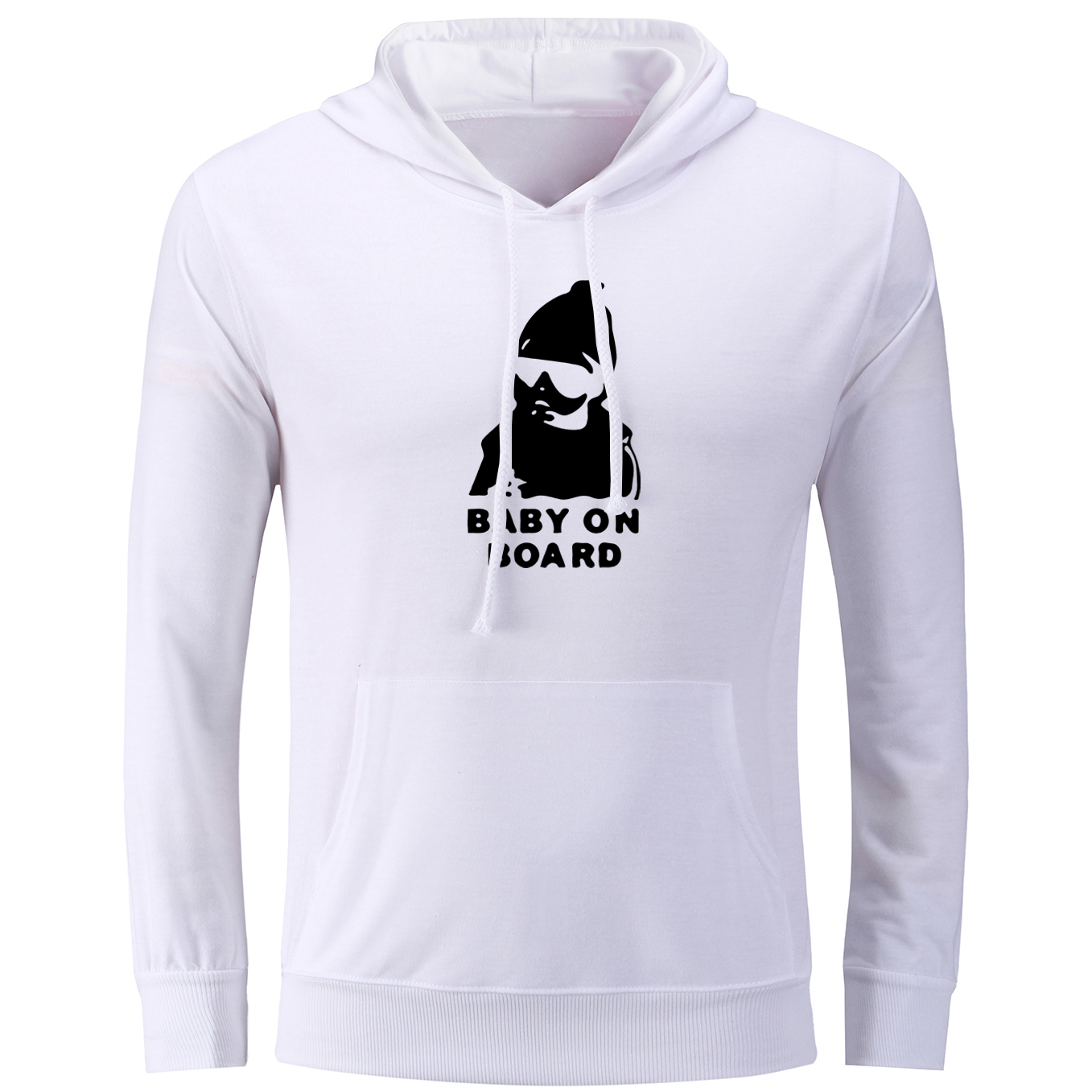 iDzn Fashion Womens Hoodies Carlos from the Hangover Baby on Board Pattern Sweatshirts Female Pullovers Jackets Christmas Gift
